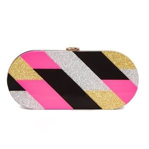Milly Pink Geo Oval Clutch